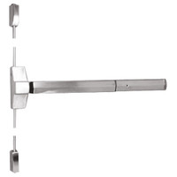 7110P-24-629 Yale 7000 Series Non Fire Rated Surface Vertical Rod Exit Device with Electric Latch Pullback in Bright Stainless Steel