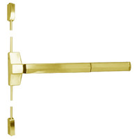 7110FP-48-605 Yale 7000 Series Fire Rated Surface Vertical Rod Exit Device with Electric Latch Pullback in Bright Brass