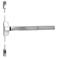 7110FP-48-629 Yale 7000 Series Fire Rated Surface Vertical Rod Exit Device with Electric Latch Pullback in Bright Stainless Steel