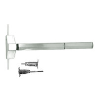 7120FP-24-619 Yale 7000 Series Fire Rated Concealed Vertical Rod Exit Device with Electric Latch Pullback in Satin Nickel