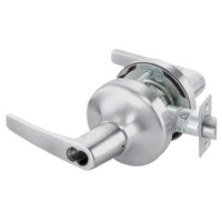 B-MO4706LN-626 Yale 4700LN Series Single Cylinder Service Station Cylindrical Lock with Monroe Lever Prepped for SFIC in Satin Chrome