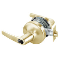 B-MO4707LN-606 Yale 4700LN Series Single Cylinder Entry Cylindrical Lock with Monroe Lever Prepped for SFIC in Satin Brass