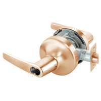 B-MO4708LN-612 Yale 4700LN Series Single Cylinder Classroom Cylindrical Lock with Monroe Lever Prepped for SFIC in Satin Bronze