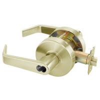 B-AU4604LN-606 Yale 4600LN Series Single Cylinder Entry Cylindrical Lock with Augusta Lever Prepped for SFIC in Satin Brass