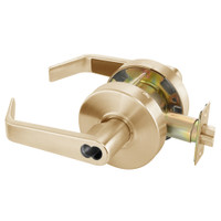 B-AU4605LN-612 Yale 4600LN Series Single Cylinder Storeroom or Closet Cylindrical Lock with Augusta Lever Prepped for SFIC in Satin Bronze