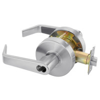 B-AU4607LN-626 Yale 4600LN Series Single Cylinder Entry Cylindrical Lock with Augusta Lever Prepped for SFIC in Satin Chrome