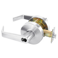 B-AU4607LN-625 Yale 4600LN Series Single Cylinder Entry Cylindrical Lock with Augusta Lever Prepped for SFIC in Bright Chrome