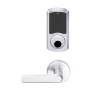 LEMS-GRW-L-01-625-00B Schlage Less Cylinder Storeroom Wireless Greenwich Mortise Lock with LED Indicator and 01 Lever in Bright Chrome
