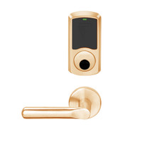 LEMS-GRW-L-18-612-00B Schlage Less Cylinder Storeroom Wireless Greenwich Mortise Lock with LED Indicator and 18 Lever in Satin Bronze
