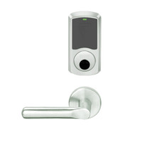 LEMS-GRW-L-18-619-00B Schlage Less Cylinder Storeroom Wireless Greenwich Mortise Lock with LED Indicator and 18 Lever in Satin Nickel