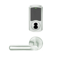 LEMS-GRW-BD-18-619-00C Schlage Storeroom Wireless Greenwich Mortise Lock with LED Indicator and 18 Lever Prepped for SFIC in Satin Nickel