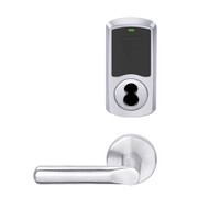 LEMS-GRW-BD-18-625-00C Schlage Storeroom Wireless Greenwich Mortise Lock with LED Indicator and 18 Lever Prepped for SFIC in Bright Chrome