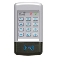SDC-920P SDC Indoor/Outdoor EntryCheck Stand Alone Digital Keypad with Prox Reader in Aluminum