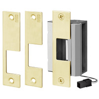 55-ABCD SDC 55 Series UniFLEX Universal Strike - Multi Application Pack Electric Strike in Dull Brass