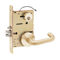 Z7850LRGN SDC Z7800 Selectric Pro Series Locked Outside Sides Failsafe Electric Mortise Lock with Nova Lever in Satin Bronze