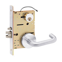 Z7850LRPN SDC Z7800 Selectric Pro Series Locked Outside Sides Failsafe Electric Mortise Lock with Nova Lever in Bright Chrome