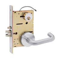 Z7850LRQN SDC Z7800 Selectric Pro Series Locked Outside Sides Failsafe Electric Mortise Lock with Nova Lever in Satin Chrome