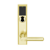 LEMD-ADD-BD-18-605 Schlage Privacy/Apartment Wireless Addison Mortise Deadbolt Lock with LED and 18 Lever Prepped for SFIC in Bright Brass