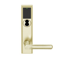 LEMD-ADD-BD-18-606 Schlage Privacy/Apartment Wireless Addison Mortise Deadbolt Lock with LED and 18 Lever Prepped for SFIC in Satin Brass