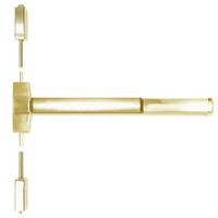 ED5400A-606-W048-MELR-M92 Corbin ED5400 Series Fire Rated Vertical Rod Exit Device with Motor Latch Retraction and Touchbar Monitoring in Satin Brass Finish