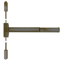 ED5470-613-W048-MELR-M92 Corbin ED5400 Series Non Fire Rated Vertical Rod Exit Device with Motor Latch Retraction and Touchbar Monitoring in Oil Rubbed Bronze Finish