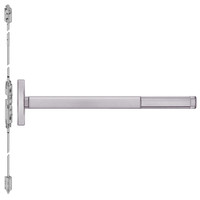FL2614LBR-630-48 PHI 2600 Series Fire Rated Concealed Vertical Rod Exit Device Prepped for Lever Always Active with Less Bottom Rod in Satin Stainless Steel Finish