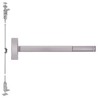 FL2708LBR-630-48 PHI 2700 Series Fire Rated Wood Door Concealed Vertical Exit Device Prepped for Key Controls Lever-Knob in Satin Stainless Steel Finish