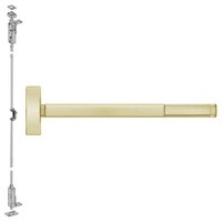 FL2714LBR-606-48 PHI 2700 Series Fire Rated Wood Door Concealed Vertical Exit Device Prepped for Lever-Knob Always Active in Satin Brass Finish