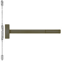 FL2808LBR-613-48 PHI 2800 Series Fire Rated Concealed Vertical Rod Exit Device Prepped for Key Controls Lever-Knob in Oil Rubbed Bronze Finish
