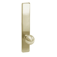 G855-606 Corbin ED4000 Series Exit Device Trim with Classroom Global Knob in Satin Brass Finish
