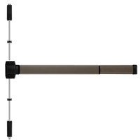 TSFL5203LBR-695-48 PHI 5000 Series Fire Rated Reliant Surface Vertical Rod Device Prepped for Key Retracts Latchbolt in Dark Bronze Powder Coat Finish