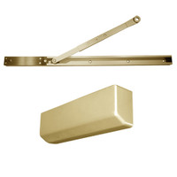D-4550SNEH-696 Stanley D-4550 Surface Closers with Electronic Hold Open Arm in Satin Brass Painted Finish