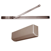 D-4550SNSRIEH-695 Stanley D-4550 Surface Closers with Electronic Hold Open Arm in Dark Bronze Painted Finish