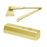 D-3551SECPH-696 Stanley D-3551 Surface Closers with Hold Open Parallel Arm in Satin Brass Painted Finish