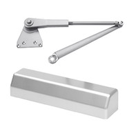 D-3551SECSRIPH-689 Stanley D-3551 Surface Closers with Hold Open Parallel Arm in Aluminum Painted Finish
