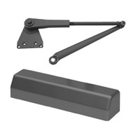D-3551SECSRIPH-693 Stanley D-3551 Surface Closers with Hold Open Parallel Arm in Black Painted Finish