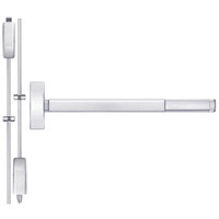 TSFL2215LBR-625-36 PHI 2200 Series Apex Surface Vertical Rod Device with Touchbar Monitoring Switch Prepped for Thumb Piece Always Active in Bright Chrome Finish
