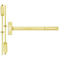 TSFL2214LBR-605-48 PHI 2200 Series Apex Surface Vertical Rod Device with Touchbar Monitoring Switch Prepped for Lever-Knob Always Active in Bright Brass Finish