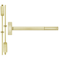 TSFL2214LBR-606-48 PHI 2200 Series Apex Surface Vertical Rod Device with Touchbar Monitoring Switch Prepped for Lever-Knob Always Active in Satin Brass Finish