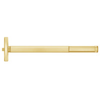 MLRFL2408-605-48 PHI 2400 Series Fire Rated Apex Rim Exit Device with Motorized Latch Retraction Prepped for Key Controls Lever in Bright Brass Finish
