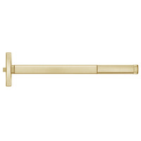 MLRFL2414-606-48 PHI 2400 Series Fire Rated Apex Rim Exit Device with Motorized Latch Retraction Prepped for Lever Always Active in Satin Brass Finish