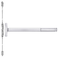 TSFL2603LBR-625-48 PHI 2600 Series Fire Rated Concealed Vertical Rod Exit Device with Touchbar Monitoring Switch Prepped for Key Retracts Latchbolt in Bright Chrome Finish