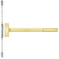 TSFL2814LBR-605-48 PHI 2800 Series Fire Rated Concealed Vertical Rod Exit Device with Touchbar Monitoring Switch Prepped for Lever-Knob Always Active in Bright Brass Finish