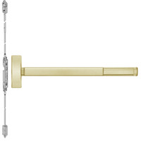 TSFL2814LBR-606-48 PHI 2800 Series Fire Rated Concealed Vertical Rod Exit Device with Touchbar Monitoring Switch Prepped for Lever-Knob Always Active in Satin Brass Finish