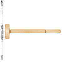 TSFL2814LBR-612-48 PHI 2800 Series Fire Rated Concealed Vertical Rod Exit Device with Touchbar Monitoring Switch Prepped for Lever-Knob Always Active in Satin Bronze Finish