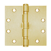 5BB1-4-5x4-633-TW8 IVES 5 Knuckle Ball Bearing Full Mortise Hinge with Electric Thru-Wire in Satin Brass Plated