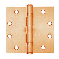 5BB1-4-5x4-639-TW8 IVES 5 Knuckle Ball Bearing Full Mortise Hinge with Electric Thru-Wire in Satin Bronze Plated