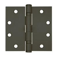 5BB1-4-5x4-641-TW8 IVES 5 Knuckle Ball Bearing Full Mortise Hinge with Electric Thru-Wire in Oxidized Satin Bronze