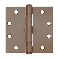 5BB1-4-5x4-643-TW8 IVES 5 Knuckle Ball Bearing Full Mortise Hinge with Electric Thru-Wire in Satin Bronze-Blackened