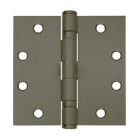 5BB1-4-5x4-613-TW8 IVES 5 Knuckle Ball Bearing Full Mortise Hinge with Electric Thru-Wire in Dark Bronze